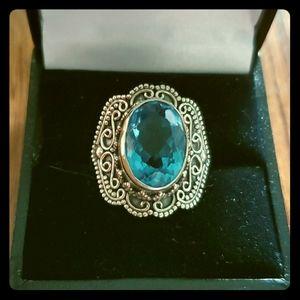 Blue topaz ring size 7